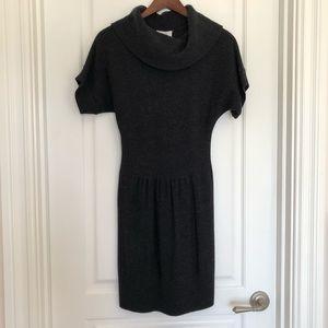 Loft Charcoal Sweater Dress